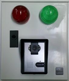 Portier-Interphone plaque rue 80mm